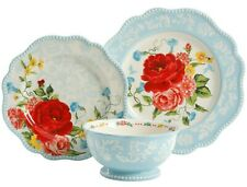 Pioneer Woman Stoneware Sweet Rose Floral Place Setting 3 Piece Plates Bowl NEW