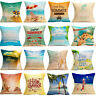 Summer Beach Style Print Pillow Case Sofa Bed Home Car Decoration Cushion Cover