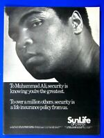 "Muhammad Ali 1979 Sun Life Of Canada Original Print Ad 8.5 x 11"""
