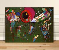 "Wassily Kandinsky Around the Circle ~ FINE ART CANVAS PRINT 36x24"""