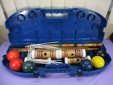 Vintage Sportcraft 6-Player Croquet Set with Portable Travel Case COMPLETE Set