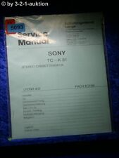 Sony Service Manual TC K81 Cassette Deck (#5093)