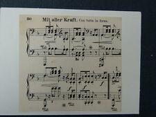 Hecho A Mano tarjeta de saludos con Vintage partitura - a -