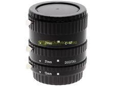 Canon EF kit 3 anelli di prolunga Meike x riprese macro. Innesto EOS. Autofocus.