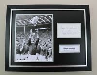 Noel Cantwell Signed Photo Framed 16x12 Man Utd Autograph Memorabilia Display