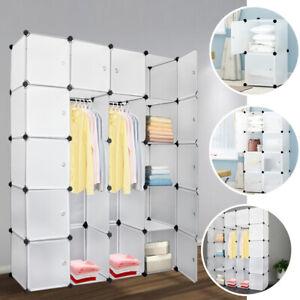 Regalsystem Kleiderschrank 8-20 Würfel mit Türen Steckregal Garderobe DIY Büro