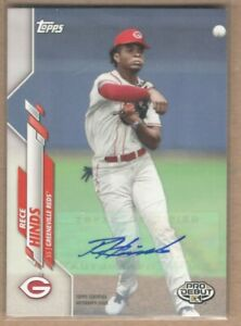 2020 Topps Pro Debut Autograph Rece Hinds Reds
