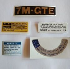Toyota 7MGTE Decal Set 2 Supra MK3 MA70 MA71 Turbo A 7M-GTE