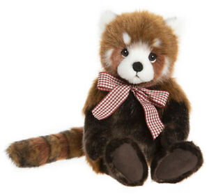 Truckle by Charlie Bears - plush collectable red panda bear soft toy - BB204004