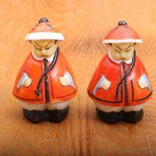 Vintage Porcelain Asian Men Figurines Salt & Pepper Shakers