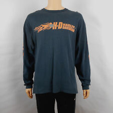 Mens Harley Davidson Motor City Black Long Sleeve Shirt Size XL