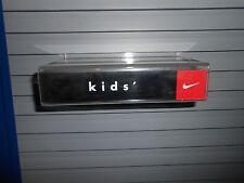 Nike Kids Plastic Slatwall Advertising Sign Store Display Shelf
