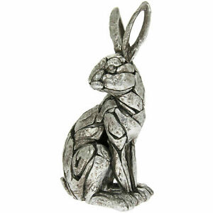 LEONARDO Natural World Sitting Rabbit Ornament Figurine CARVED STONE-Like Style