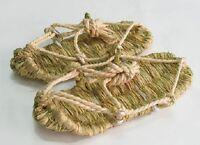 Japanese traditional sandal shoes Waraji straw Samurai Kimono New LL size