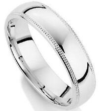 18K WHITE GOLD MENS WEDDING BAND RING 5MM