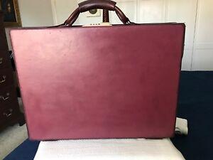 """Hartmann Belting Leather Briefcase Attache """"Slim"""" 3.25"""" Retail $1895.00"""