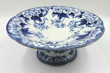 "New listing Antique French Porcelain Footed Fruit Bowl ""Flora"" Pattern Creil Et Montereau"
