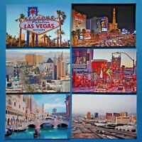 Quality Set of 6 Brand New Glossy Postcards, Las Vegas, Nevada, USA 45L