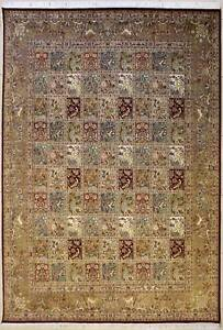 Rugstc 8x10 Senneh Pak Persian Red Rug,Hand-Knotted,Pictorial Hunting,Silk/Wool