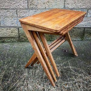 Danish BENGT RUDA Original 1950's Nest of Tables Danish Mid Century Modern