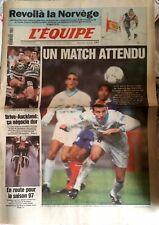 L'Equipe Journal 4/2/1997; Doublé Norvégien; Atle Skaardal et Lasse Kjus/ Brive