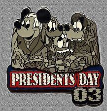 Mickey & Gang Pin President's Day 2003 Disney Mount Rushmore - Le 3500