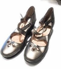 Fly London Metallic Gold Bronze Leather Shoes Size 41 USA 10