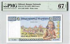 Djibouti ND (1997) P-40 PMG Superb Gem UNC 67 EPQ 2000 Francs