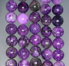 12MM PURPLE SUGILITE GEMSTONE ROUND LOOSE BEADS 15.5