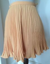 Vintage Couture Versace Peach Pleated Sheer Chiffon Skirt Size 0 38 XS