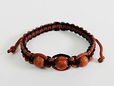 Authentic Thai Blessed Buddhist Wristband Fair Trade Wristwear Brown Beads