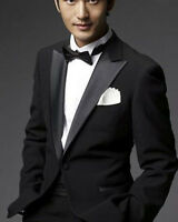 Men's Black The Groom Dress Tuxedo, Wedding Blazer  (Include Pants) USA Seller