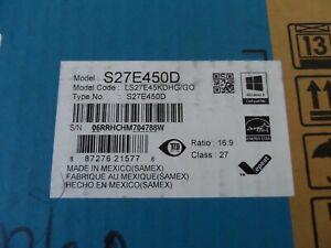 Samsung Monitor S27E450D 27 inch Widescreen LS27E45KDHG/GO (NIB)