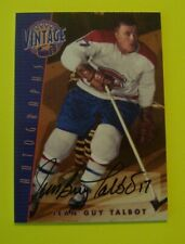 2001 02 ITG BAP VINTAGE SIGNATURE SERIES JEAN GUY TALBOT AUTOGRAPH MONTREAL