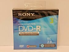 Pack Of 3 - Sony Handycam Dvd-R Double Sided Mini Discs 2.8Gb 60Min - Brand New