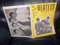 THE BEATLES FIRST SONG BOOK SHEET MUSIC 1963 LYRICS AND MUSICAL NOTES PHOTOS ETC