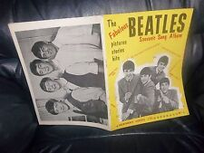 THE BEATLES FIRST SONG BOOK SHEET MUSIC 1963 LYRICS AND MUSICAL NOTES PHOTOS ETC
