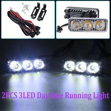 6-LED Daytime Running Light DRL Fog Lamp Day Lights Daylight 12V Car Driving 9W