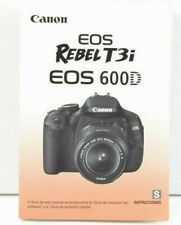 Canon EOS Rebel T3i 600D Camera Instruction Manual User Guide SPANISH VGC (447)