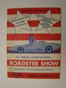 1970 22nd Annual Grand National Roadster Show Program Oakland Hot Rods & Customs