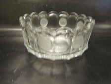 "Fostoria Coin Clear Scalloped Bowl Liberty Bell Elegant Glass Mint 7"" Diameter"