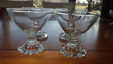 Vintage Anchor Hocking Boopie glasses Champagne Tall Sherbet Cups 4 5oz ca 1940