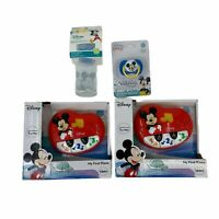 Lot 4- Mickey Mouse My First Piano (2), Pacifier, 5oz Bottle Disney Baby New