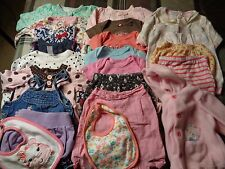 Lot of 22 pieces, girls 6-9 months clothing outfits.