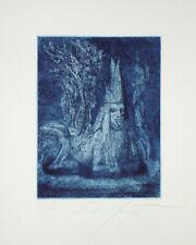 Ernst Fuchs 1970 Tier der Romantik Radierung signiert