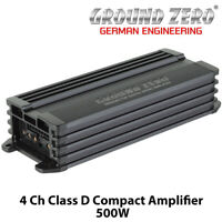Ground Zero GZRA MICRO FOUR - 4 Channel Class D Compact Car Amplifier 500W BNIB