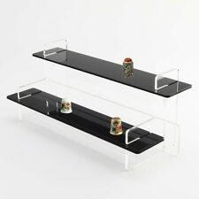 Thimble Display Stand - Collection - Sewing - Black Shelves - Acrylic - Tiered