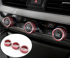 3Pcs For Honda Accord 2018-19 Red Air Conditioning+Audio+Function Button Circle