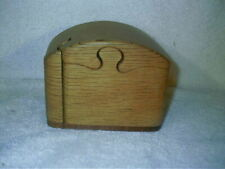 Vintage KOA Hand Carved Wood Wooden Hidden Trinket Jewelry Box Puzzle Signed