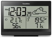 Estación Meteorológica con Reloj de MSF Radio Control (versión de Reino Unido) Interior/exterior